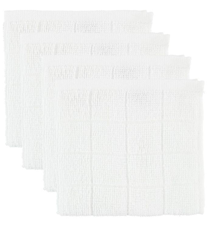 Pippi Vaskeklude - 4-pak - Hvid