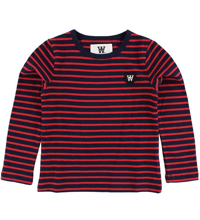 Image of Wood Wood Kids Bluse - Navy/Rødstribet (JI856)