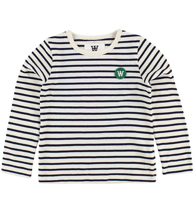 Image of Wood Wood Kids Bluse - Creme/Navystribet (JI857)