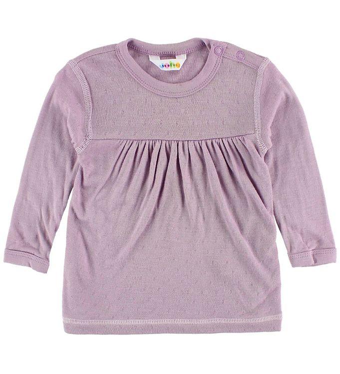 Image of Joha Bluse - Bambus - Lavendel m. Mønster (JJ081)