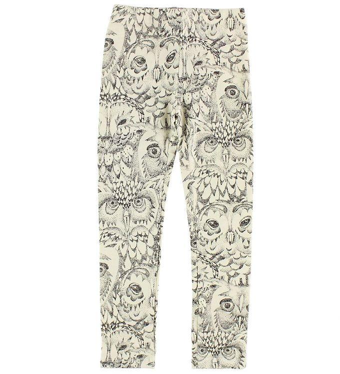 Soft gallery leggings - paula - creme m. ugler fra soft gallery fra kids-world