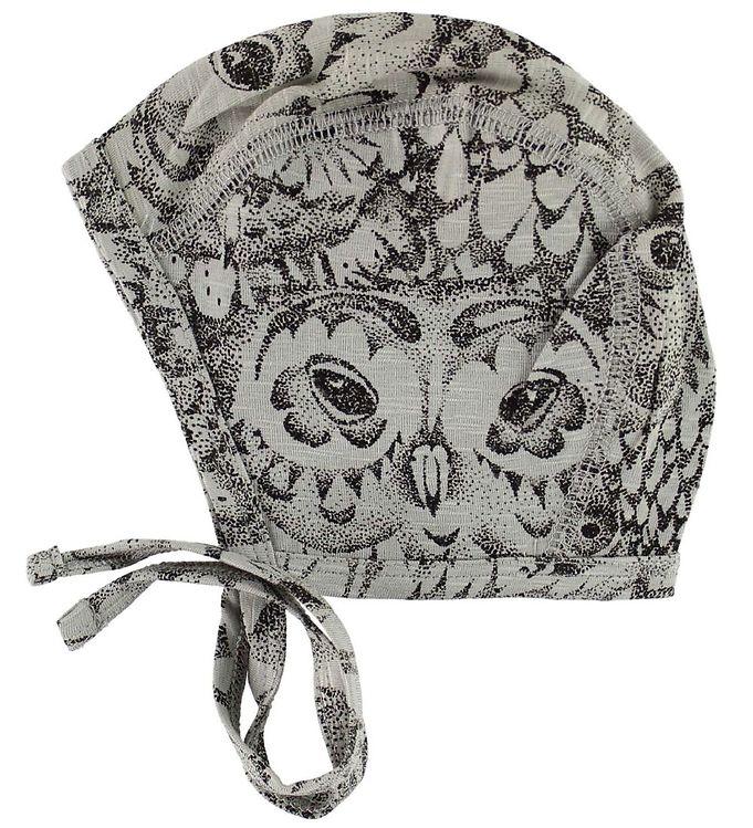 Soft gallery babyhjelm - hattie - grå m. ugler fra soft gallery fra kids-world