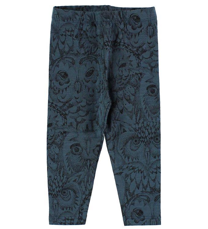 Soft gallery leggings - paula - petroleum m. ugler fra soft gallery på kids-world