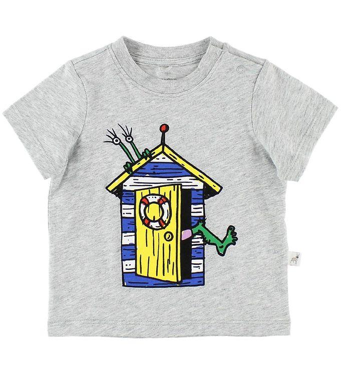 Image of   Stella McCartney Kids T-shirt - Gråmeleret m. Hus