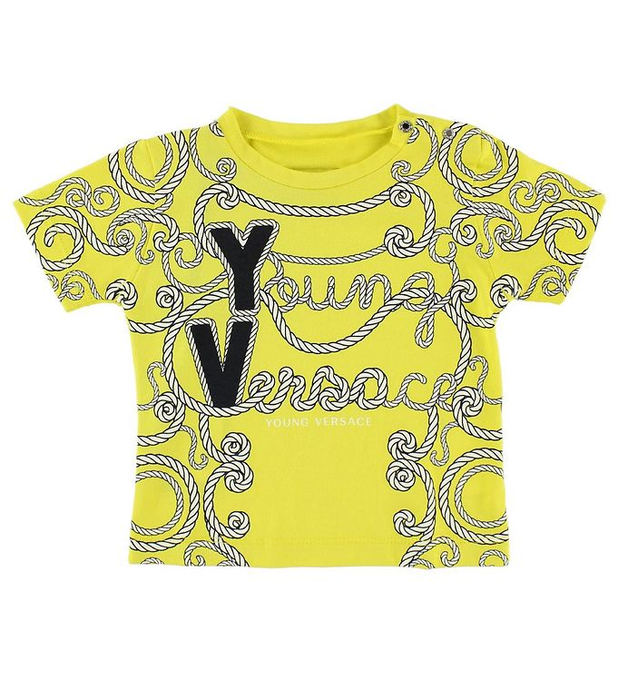 Image of Young Versace T-shirt - Gul m. Snører (JL704)