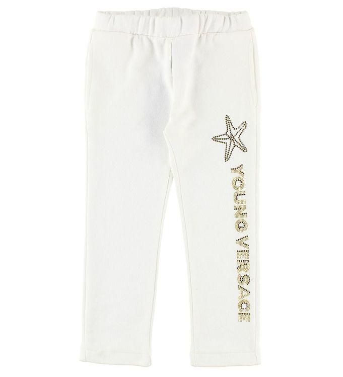 Image of Young Versace Sweatpants - Hvid m. Søstjerne (JL718)