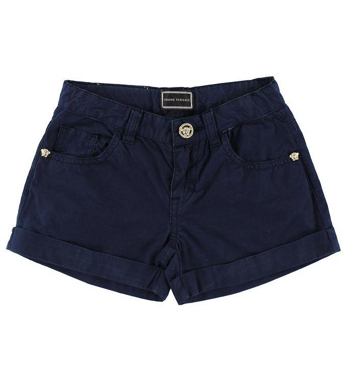 Image of Young Versace Shorts - Navy (JL719)