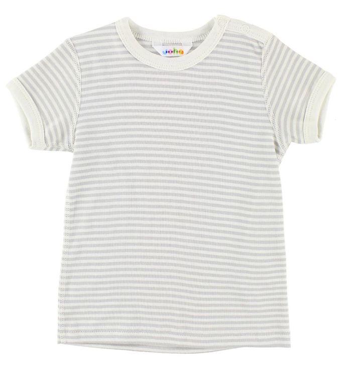 Image of Joha T-shirt - Grå/Creme Striber (JL856)