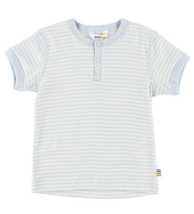 Image of Joha T-shirt - Lyseblå/Creme Striber (JL857)