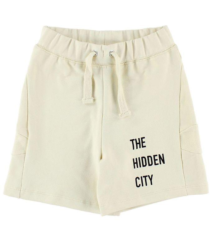 Image of Gro Shorts - Sweat - Creme m. Tekst (JM415)