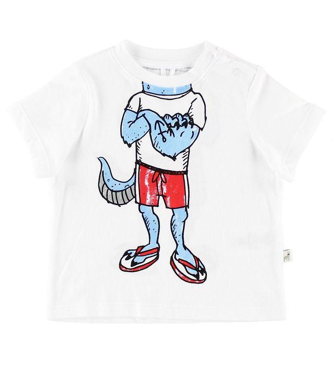 Image of   Stella McCartney Kids T-shirt - Hvid m. Monsterkrop