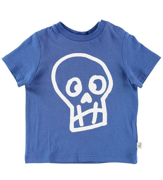 Image of   Stella McCartney Kids T-shirt - Blå m. Kranie