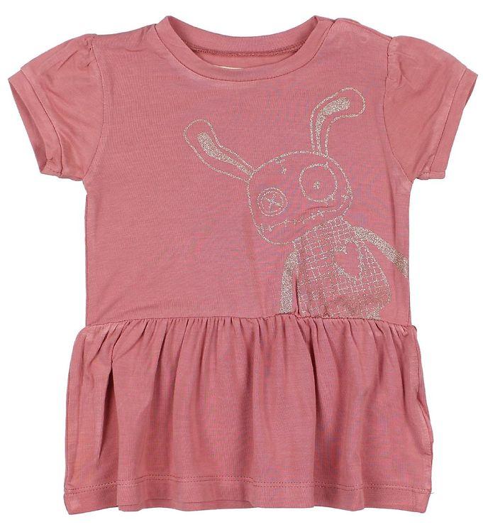 Image of Small Rags T-shirt - Støvet Rosa m. Mr. Rags (JO055)