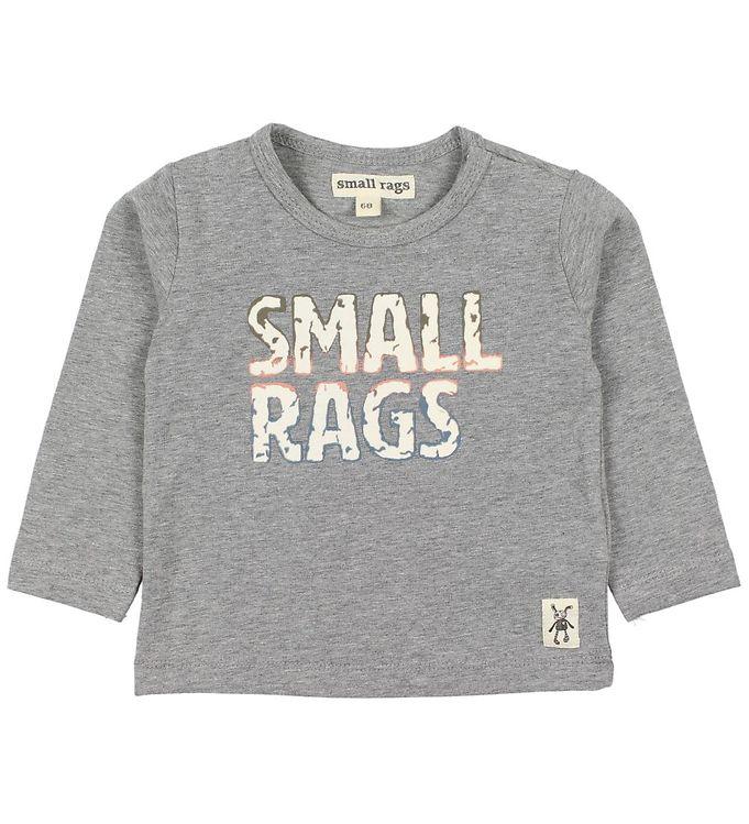 Image of Small Rags Bluse - Gråmeleret m. Print (JO079)