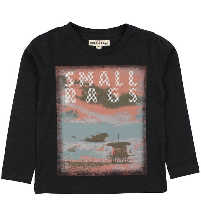 Image of   Small Rags Bluse - Koksgrå m. Print