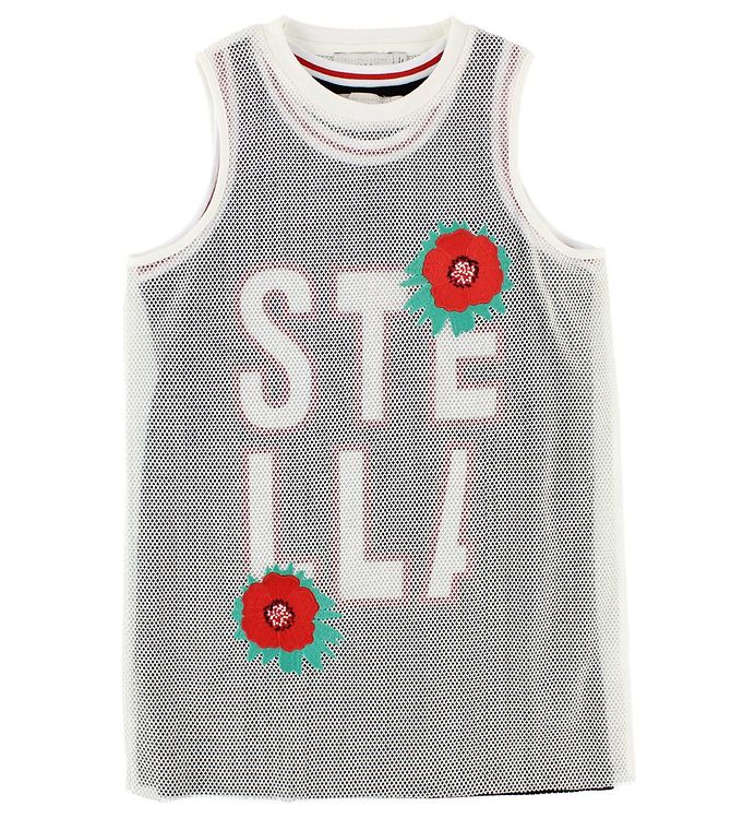 Image of Stella McCartney Kids Kjole - Sort/Hvid m. Blomster/Stella (JO292)
