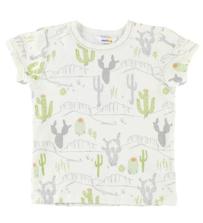 Image of Joha T-shirt - Bambus - Creme m. Kaktusprint (JP489)