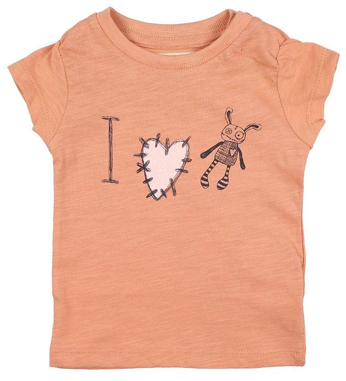 Image of Small Rags T-shirt - Grace - Fersken m. Glitter (JP812)