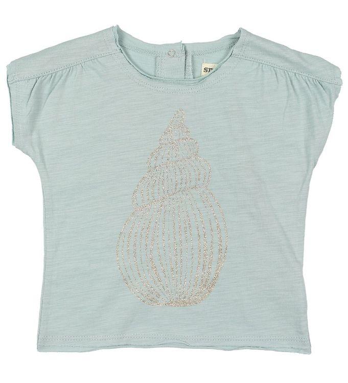 9ed79879437d Small Rags T-shirt - Lys Blå m. Glitter
