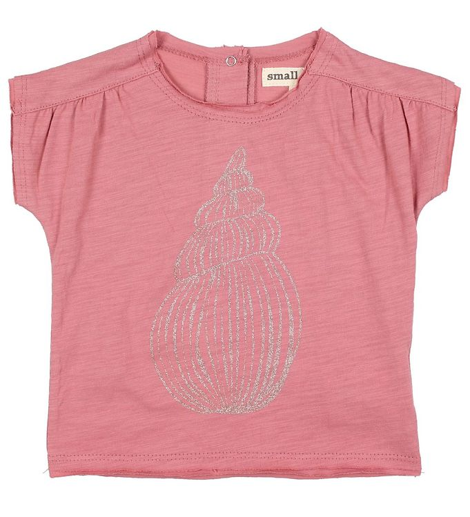Image of Small Rags T-shirt - Grace - Støvet Rosa m. Glitter (JP864)