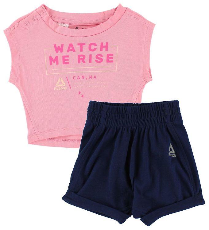 Image of   Reebok T-shirtsæt - Pink/Navy