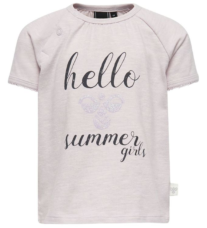 Billede af Hummel T-shirt - Kaya - Lys Lavendel m. Tekst