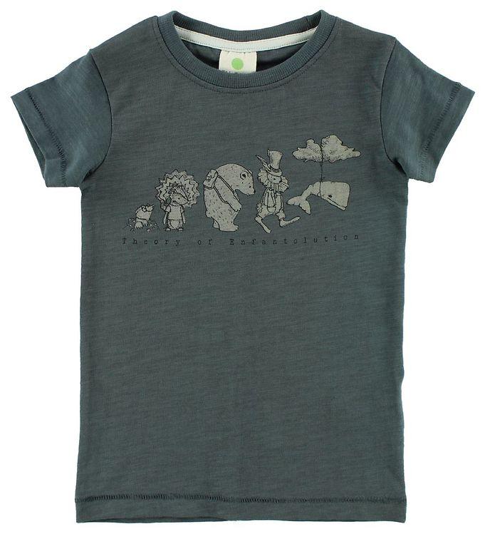 Image of En Fant T-shirt - Gate - Mørk Petroleum m. Dyr (JS364)