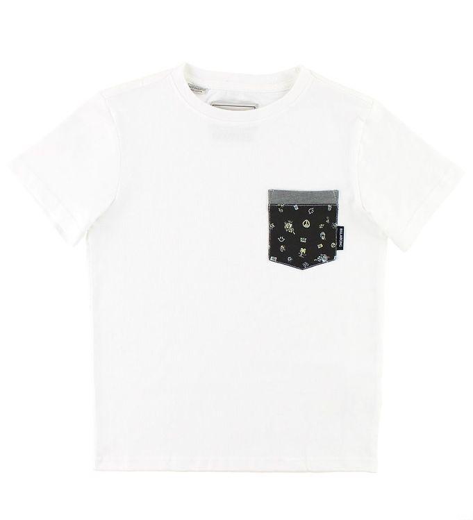 Image of Billabong T-shirt - All Day Printed - Hvid (JS874)