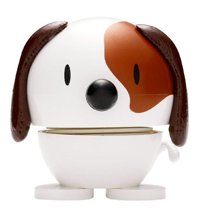 Image of Hoptimist Baby Dog - 7 cm - Hvid/Brun (JS912)