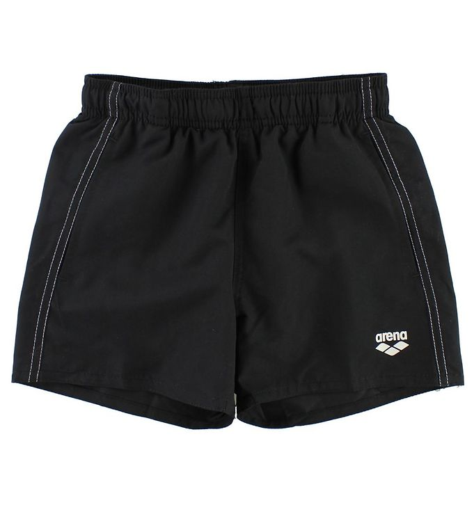Image of Arena Badeshorts - Fundamentals Jr - Sort m. Hvid (JT032)