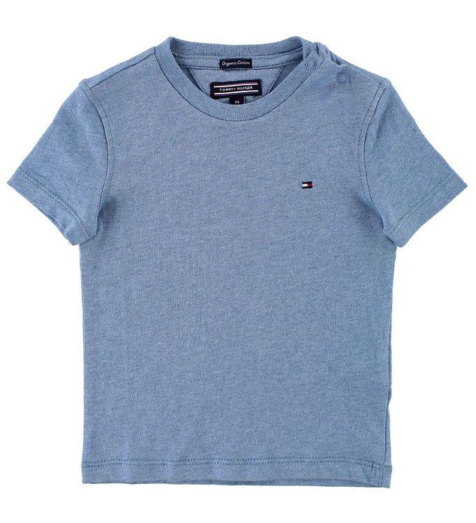 Image of Tommy Hilfiger T-shirt - Blåmeleret (JT072)