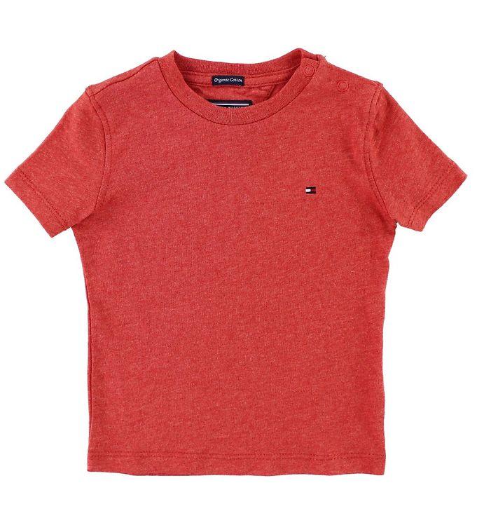 Image of Tommy Hilfiger T-shirt - Rødmeleret (JT073)