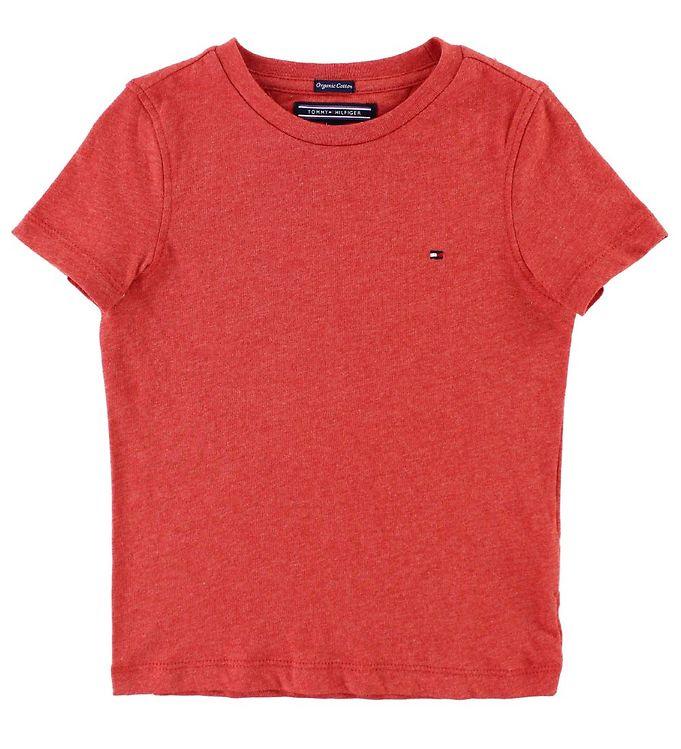 Image of Tommy Hilfiger T-shirt - Rødmeleret (JT079)