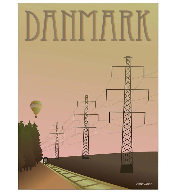 Image of Vissevasse Plakat - 30x40 - Danmark - Masterne (JT664)