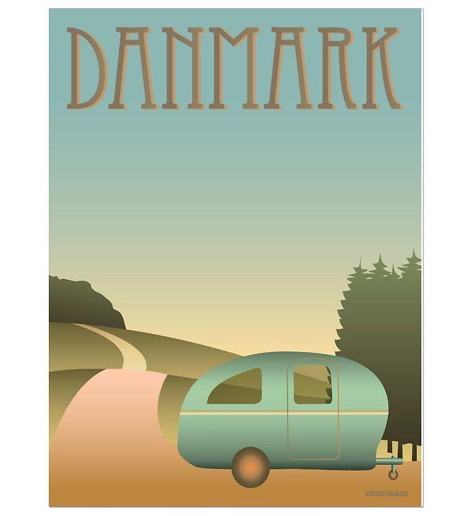 Image of Vissevasse Plakat - 30x40 - Danmark - Camping (JT665)
