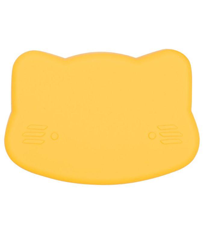 Image of We Might Be Tiny Snackboks - Kat - Silikone - Gul (JT729)