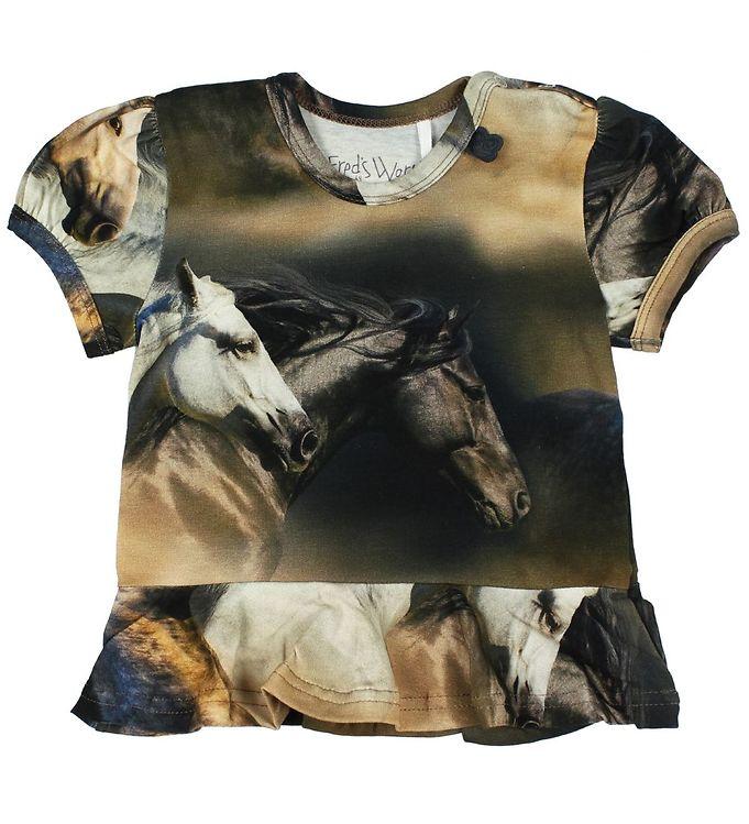 Image of Freds World T-shirt - Heste (JU426)