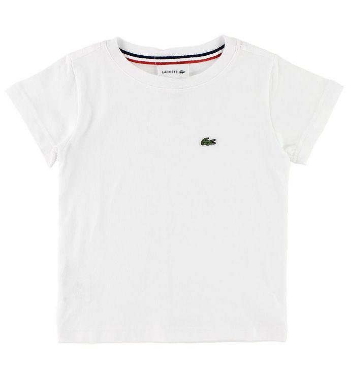 Lacoste T-shirt - Hvid m. Logo