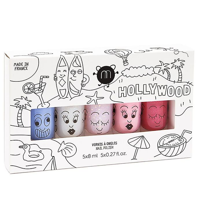 nailmatic Nailmatic 5-pak neglelak - hollywood fra kids-world