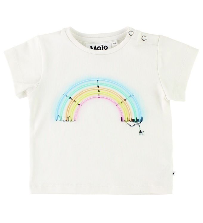 Image of   Molo T-shirt - Eddie - Neon Rainbow