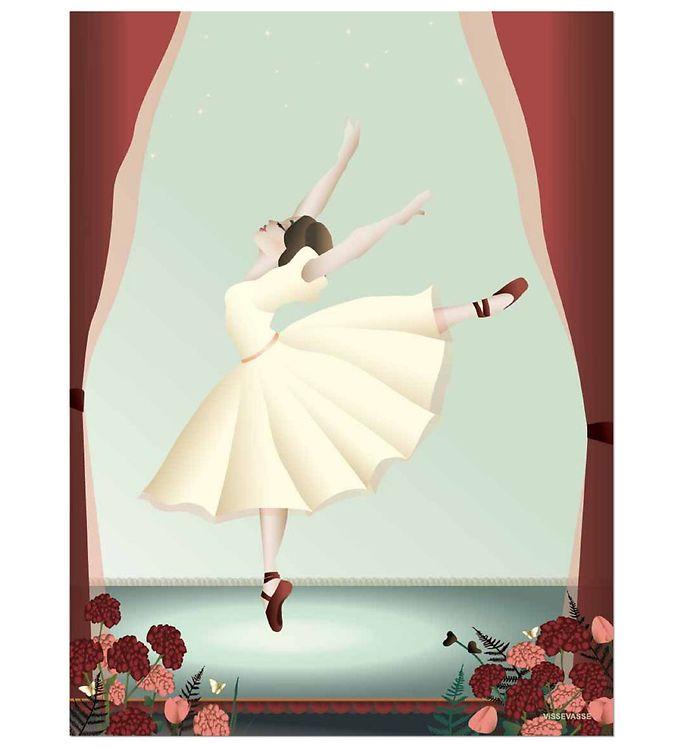 Billede af Vissevasse Plakat - 30x40 cm - Ballerina