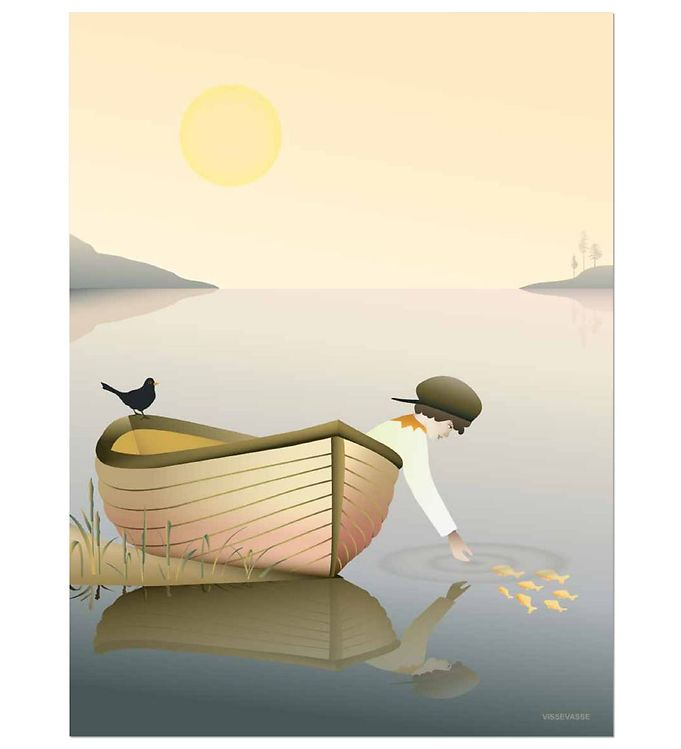 Image of Vissevasse Plakat - 30x40 - Boy In A Boat (JV489)