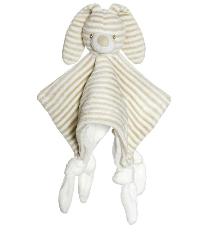 Teddykompaniet Nusseklud - Kanin - Sand/Hvidstribet