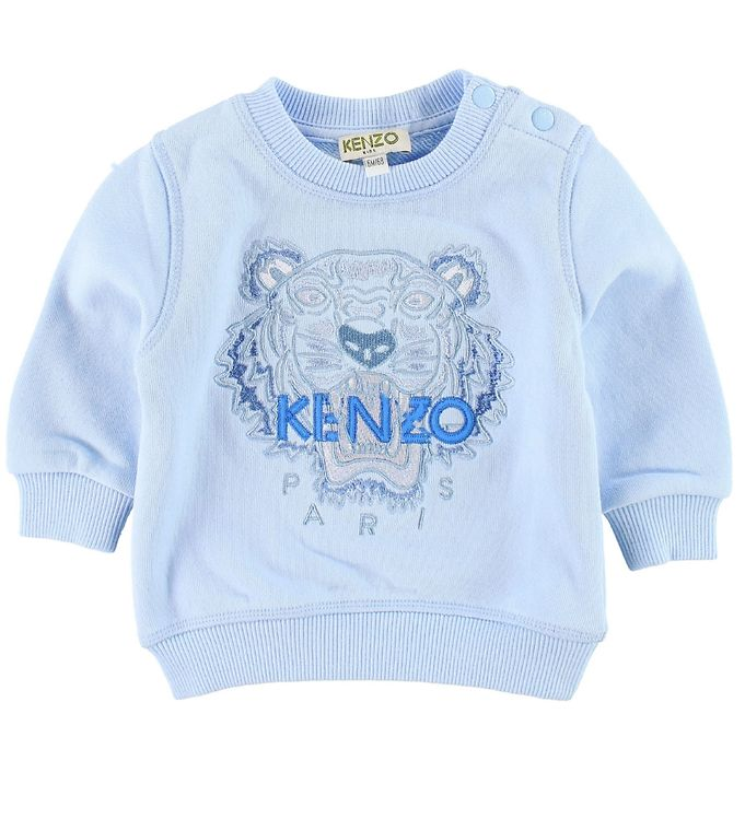 f00bca7d47a Kenzo Sweatshirt - Lyseblå m. Tiger - Køb her med gratis fragt og ...