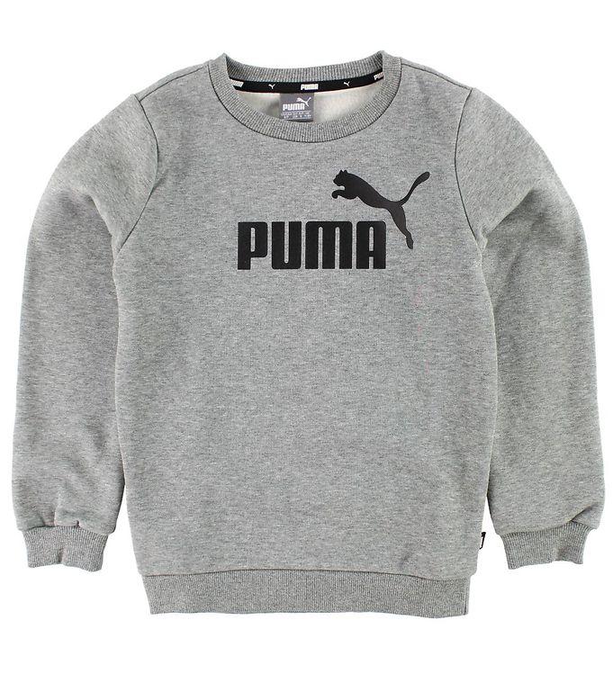 88811029a9e Puma Sweatshirt - Gråmeleret - Køb her med gratis fragt og mulighed ...