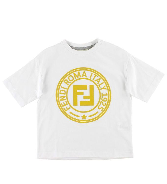 Billede af Fendi T-shirt - Hvid m. Logo