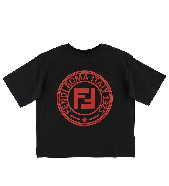 Billede af Fendi T-shirt - Sort m. Logo