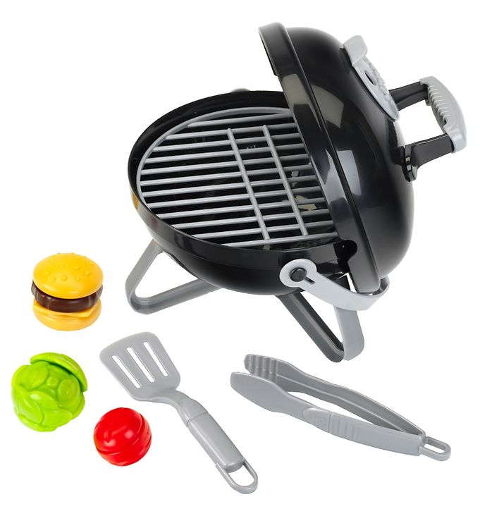Weber mini smokey joe grill - sort m. burger fra weber mini på kids-world