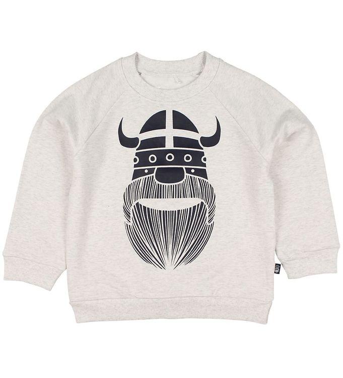 Image of Danefæ Sweatshirt - Amerika - Crememeleret m. Erik (JX719)