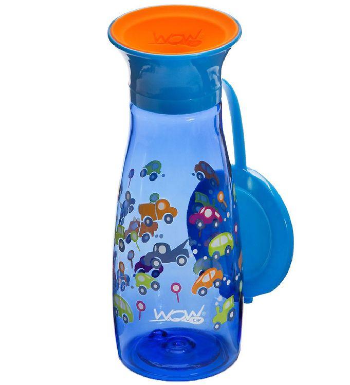 Billede af Wow Cup Drikkedunk - Mini - Blå m. Biler